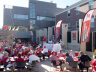 Scene from a 2010 Football Friday event at the Wick Alumni Center Holling Garden.