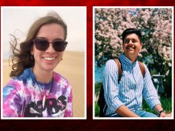 Lexy Polivanov (left) and Miguel Avila Garcia both earned Gilman International Scholarships for summer 2019. | Courtesy images