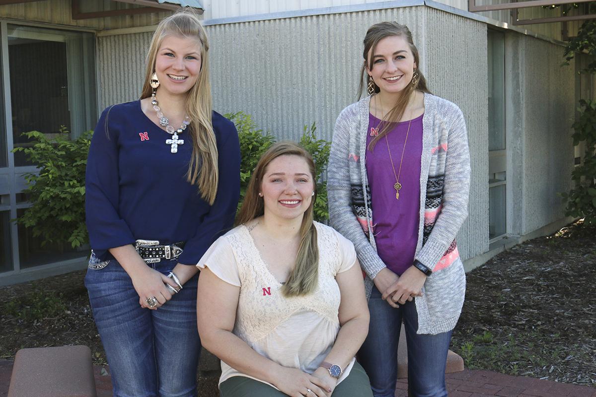 (L–R) Sheridan Swotek, Rachel Wells and Alaina Kauffman