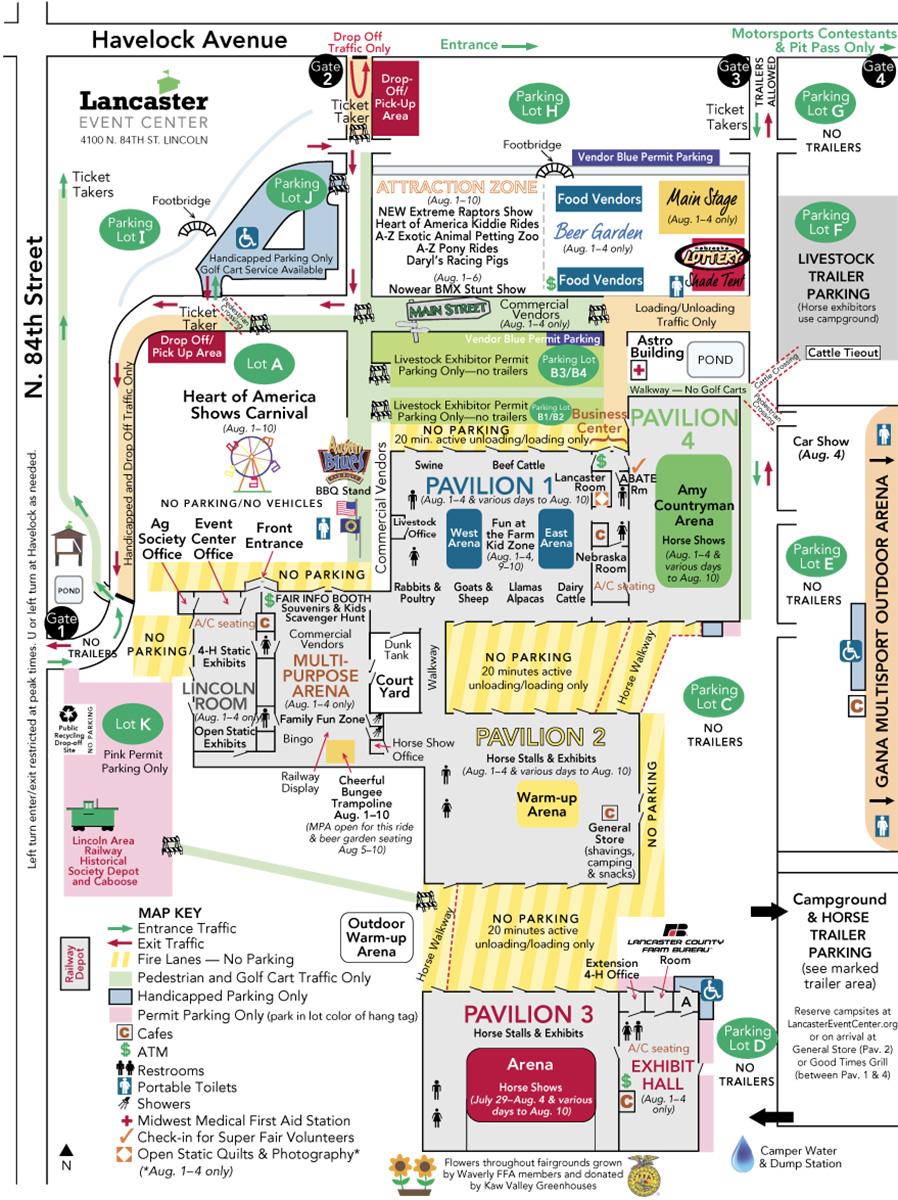 2019 Lancaster County Super Fair fairgrounds map