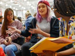 First-year students at Husker Dialogues events learn hands-on ways to increase diversity and inclusion on campus.