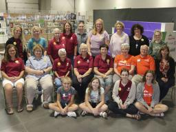 All of the multi-generational 4-H superintendents, volunteers and judges who helped during static exhibit interview judging at the 2019 Lancaster County Super Fair.