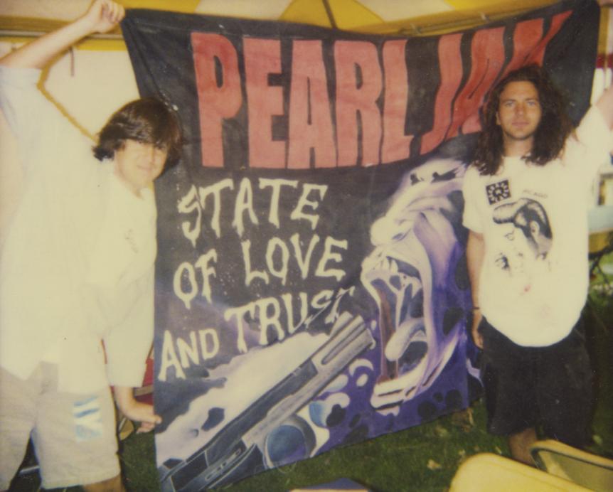 "Scene from ""Pearl Jam Twenty."""