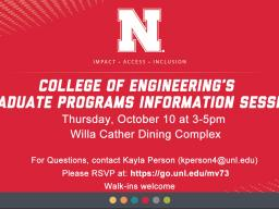 Graduate Programs Information Session is Oct. 10.