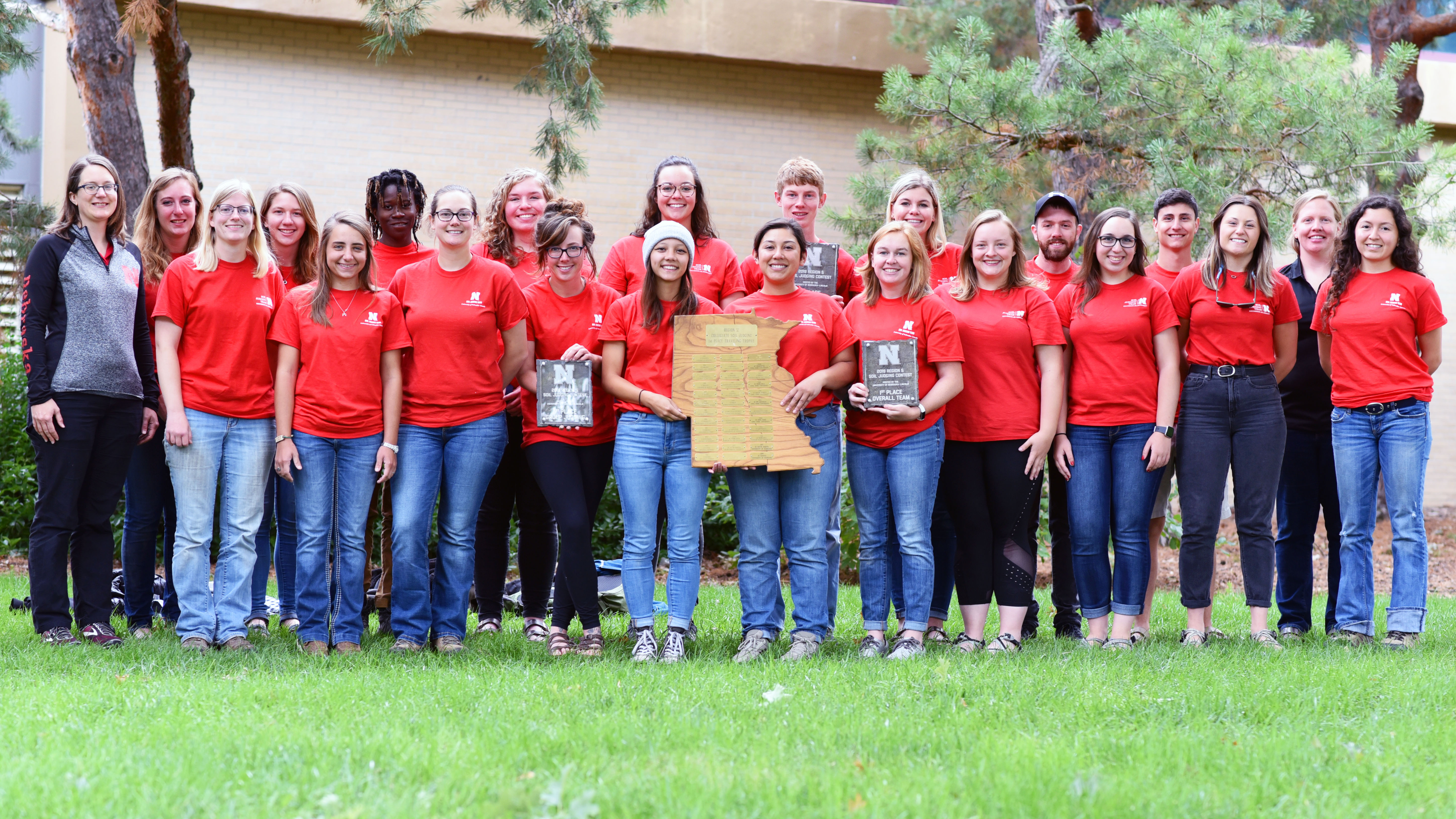 The UNL Soil Judging Team took first place in the individual, team and overall contests Oct. 3, 2019, near Grand Island, Nebraska. | School of Natural Resources