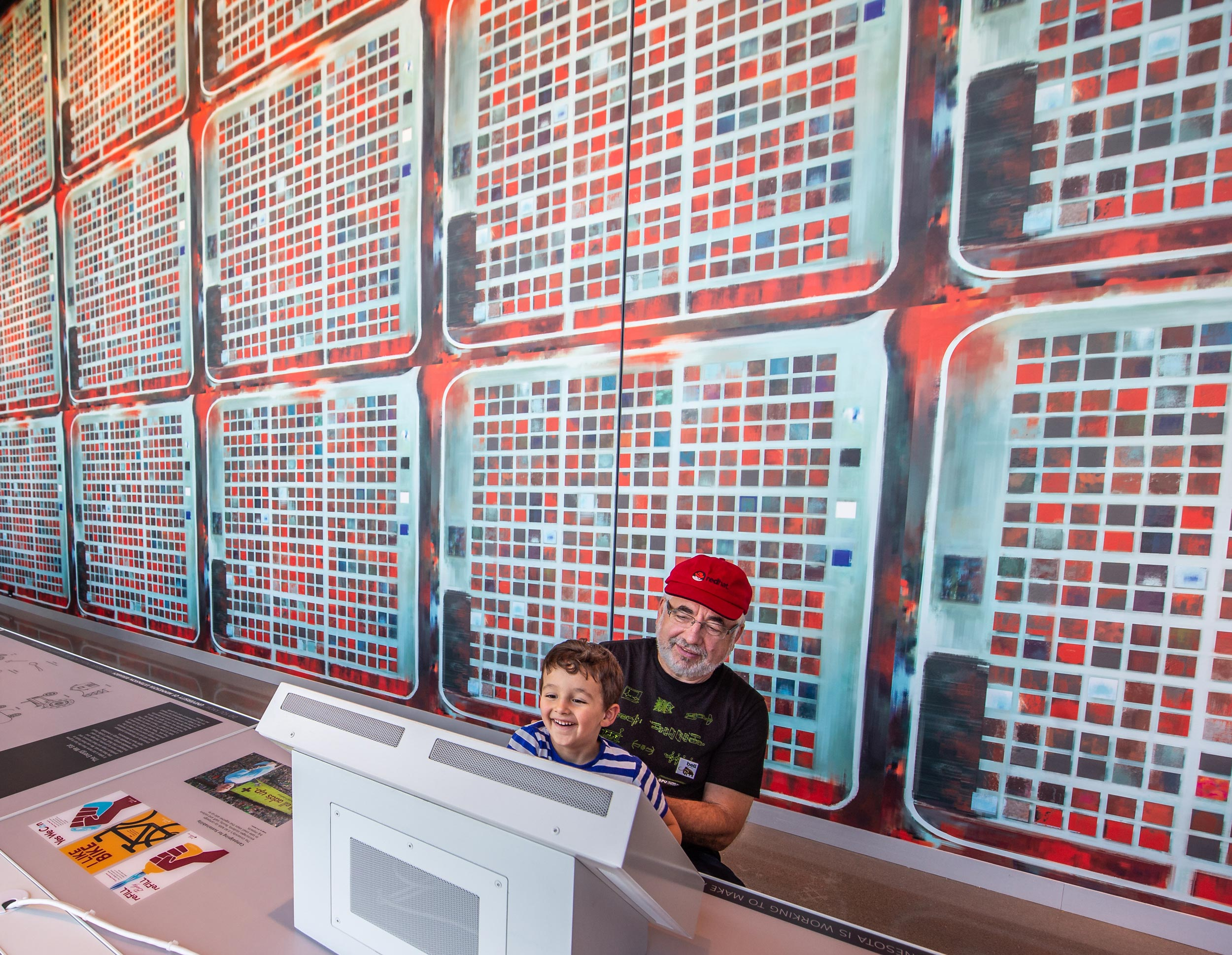 Images collected via remote-sensing by CALMIT have been used as wallpaper in the Bell Museum, St. Paul, Minn. | Courtesy Joe Szurszewski, for the Bell Museum