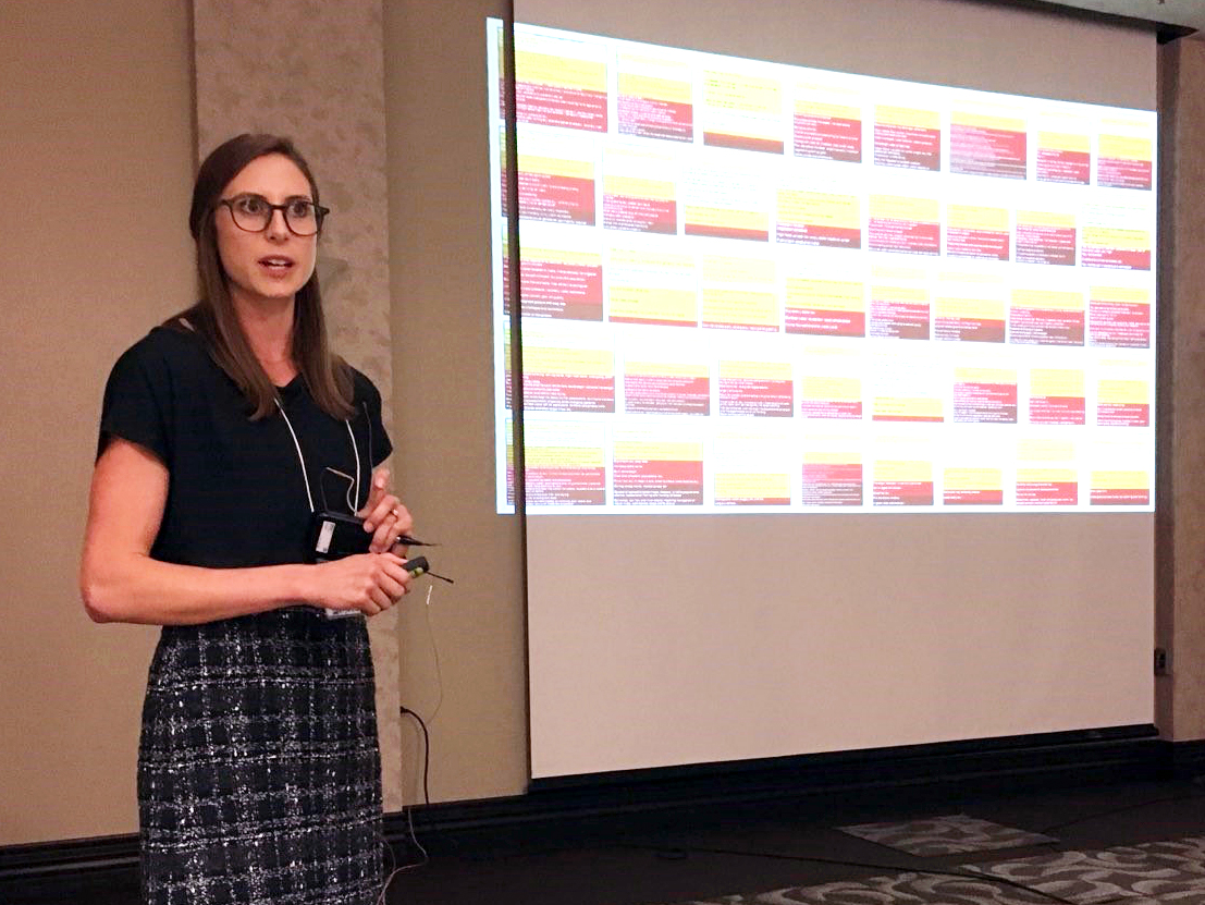 National Drought Mitigation Center research assistant Mary Noel recently presented on the creation of the state impact tables for the U.S. Drought Monitor at the USDM Forum in Bowling Green, Kentucky. | Courtesy image