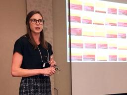 National Drought Mitigation Center research assistant Mary Noel recently presented on the creation of the state impact tables for the U.S. Drought Monitor at the USDM Forum in Bowling Green, Kentucky.   Courtesy image