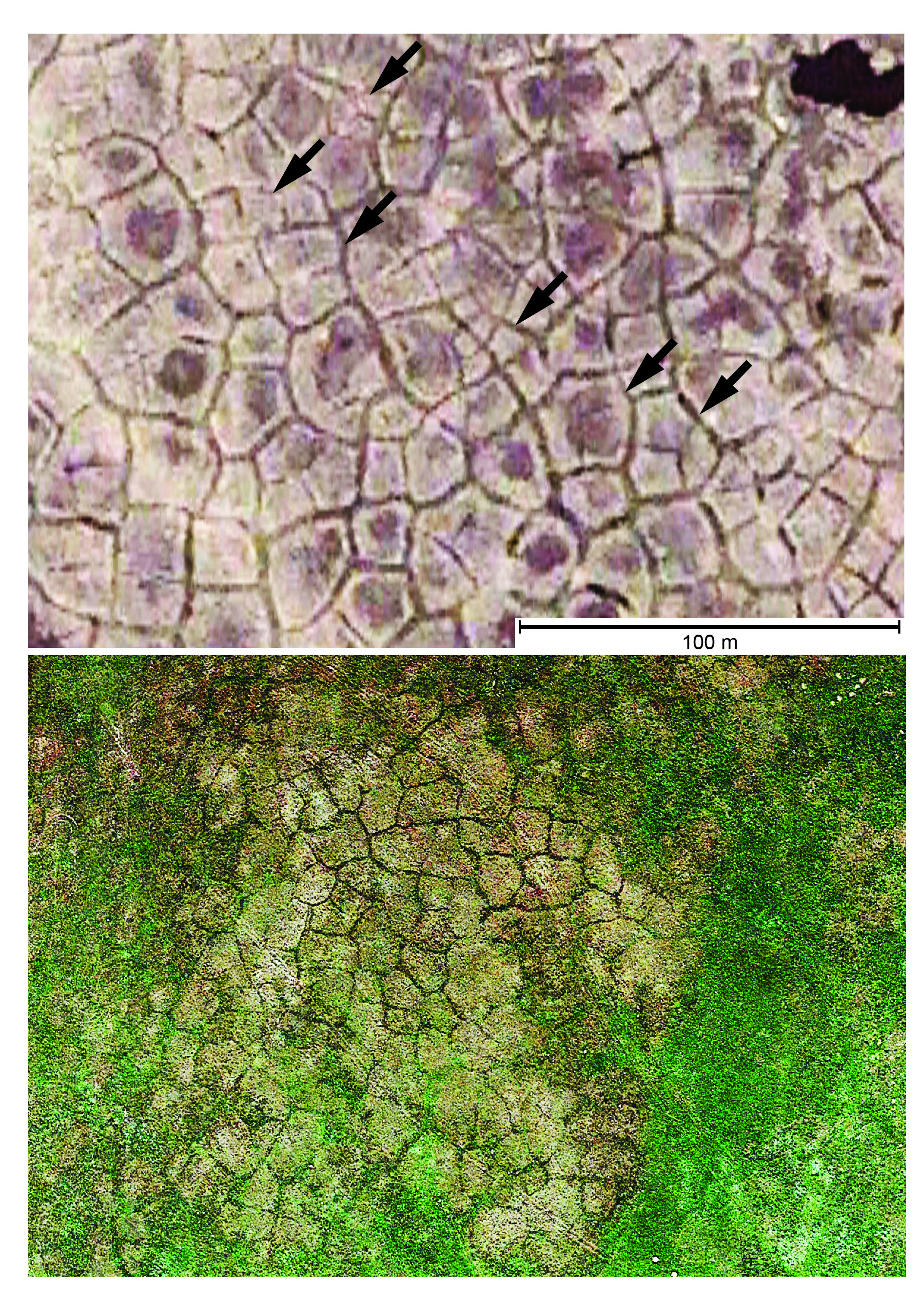 By searching Google Earth images, researchers with the Conservation and Survey Division discovered evidence of permafrost in Nebraska's soil. | Courtesy image