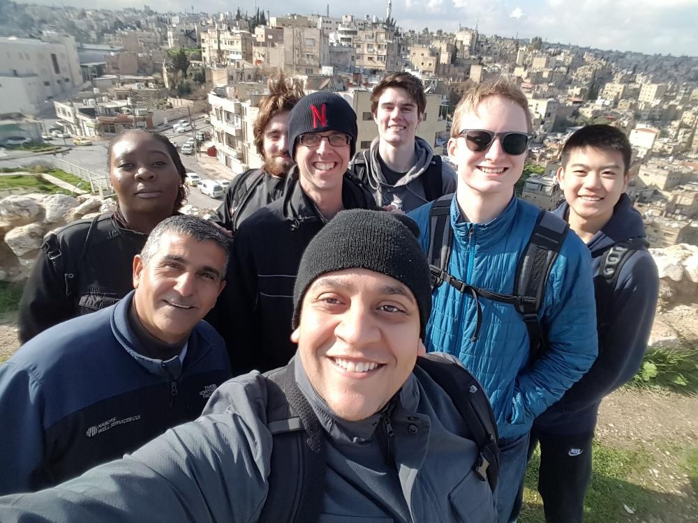 Students studying abroad in Jordan in spring 2019.