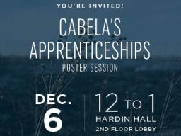 Cabela's Apprenticeship poster session