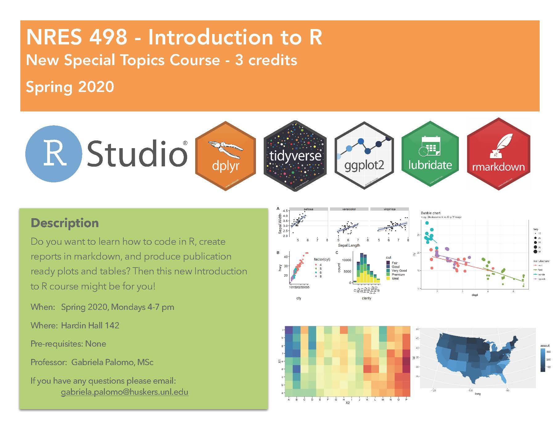 A new RStudio course is being offered to University of Nebraska-Lincoln students.