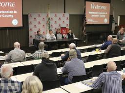 A panel discussion at a 2019 Successful Farmer Series workshop.