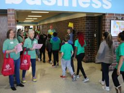 Volunteer classroom guides at 2019 Earth Wellness Festival.