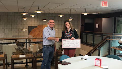 Mirae Guenther, research technician with the School of Natural Resources, received the fall 2019 SNR Staff Recognition Award.