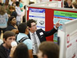 Students presenting their research at the 2019 Nebraska Summer Research Symposium