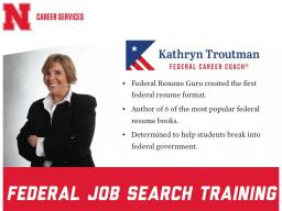 Upcoming Spring Career Event:  Federal Job Search Training