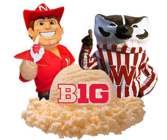 Herbie Husker and Bucky Badger