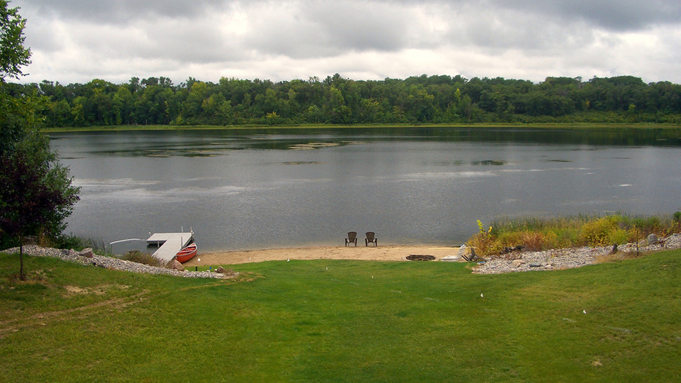 """A citizen scientist submitted this photo of Perch Lake in Woodside Township, Polk County, Minnesota, looking south. """"It has been a cool summer with normal to slightly above normal precipitation here,"""" the observer wrote.  