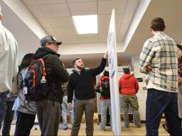 Cabela's Apprentices present their research projects in December 2019 in Hardin Hall. | Shawna Richter-Ryerson, Natural Resources