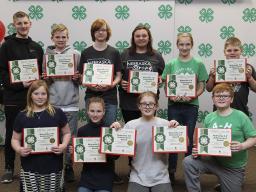 Nebraska 4-H Annual Achievement Award — Junior recipients