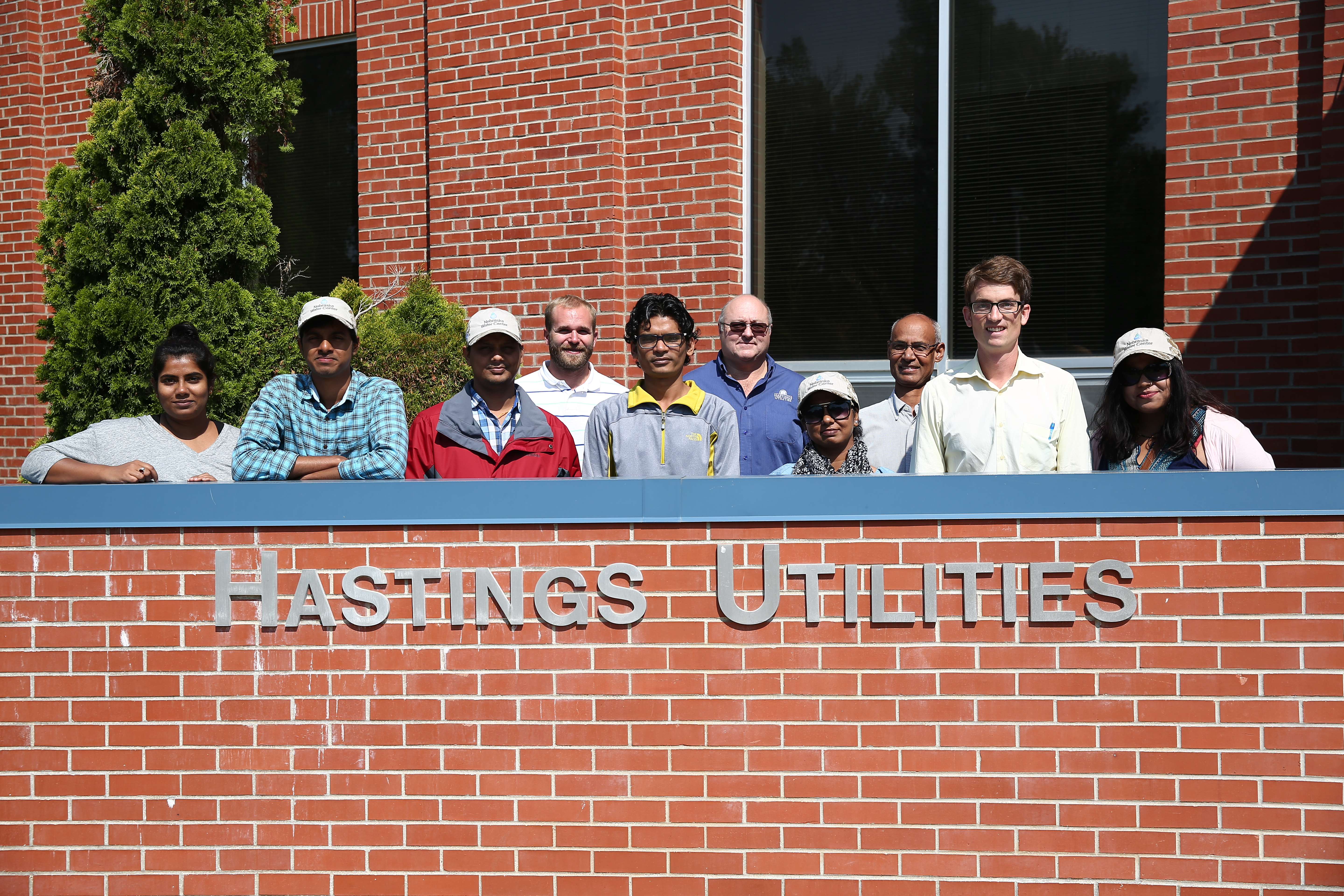 WARI scholars on a field trip to learn about water treatment at Hastings Utilities.
