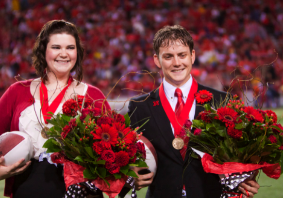 UNL's 2011 homecoming queen Emily Koopmann and king Skip Hecox. Photo by Craig Chandler, University Communications