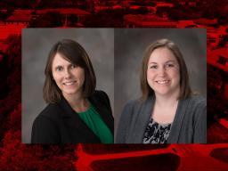 Natalie Umphlett and Crystal Stiles of the High Plains Regional Climate Center.