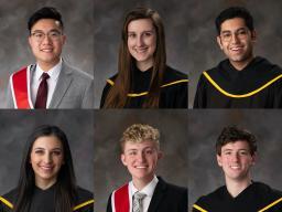 From left to right: (top row) Sheng-Jie Lim, Emma Clausen, Rohan Thakker, (bottom row) Alexis Karkazis, Adrian Pilkington, and Jacob Peddicord
