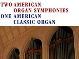 """Left: Christopher Marks; Right: Marks has released a new CD titled """"Two American Organ Symphonies One American Classic Organ."""""""