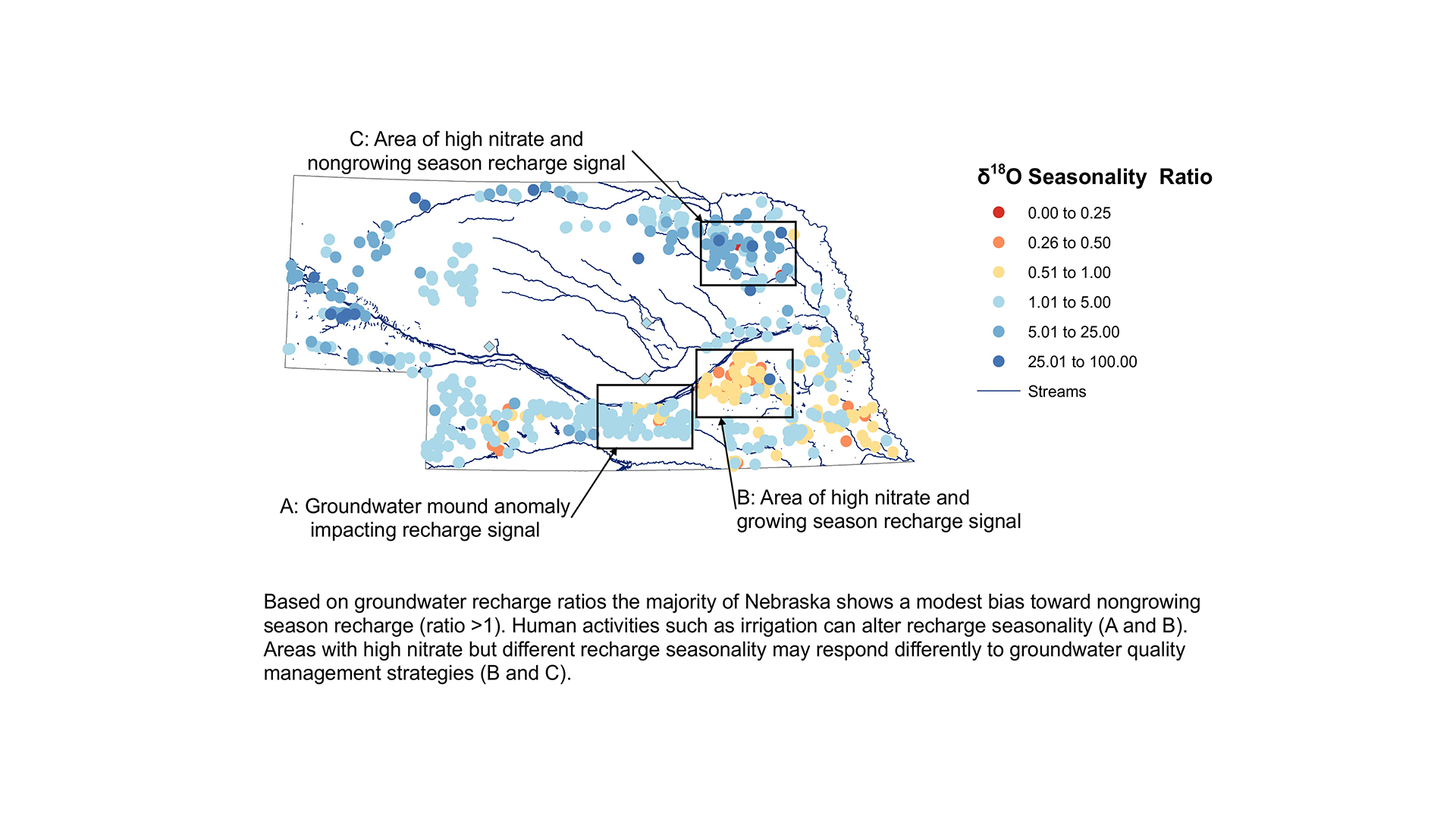 A recently published study led by University of Nebraska-Lincoln School of Natural Resources PhD candidate Mikaela Cherry found that winter precipitation reloads most of the state's groundwater supply.