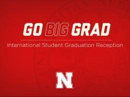 The 2019-20 International Student Graduation Reception was held online on May 9 and celebrated the more than 750 international graduates from Nebraska in the last year.