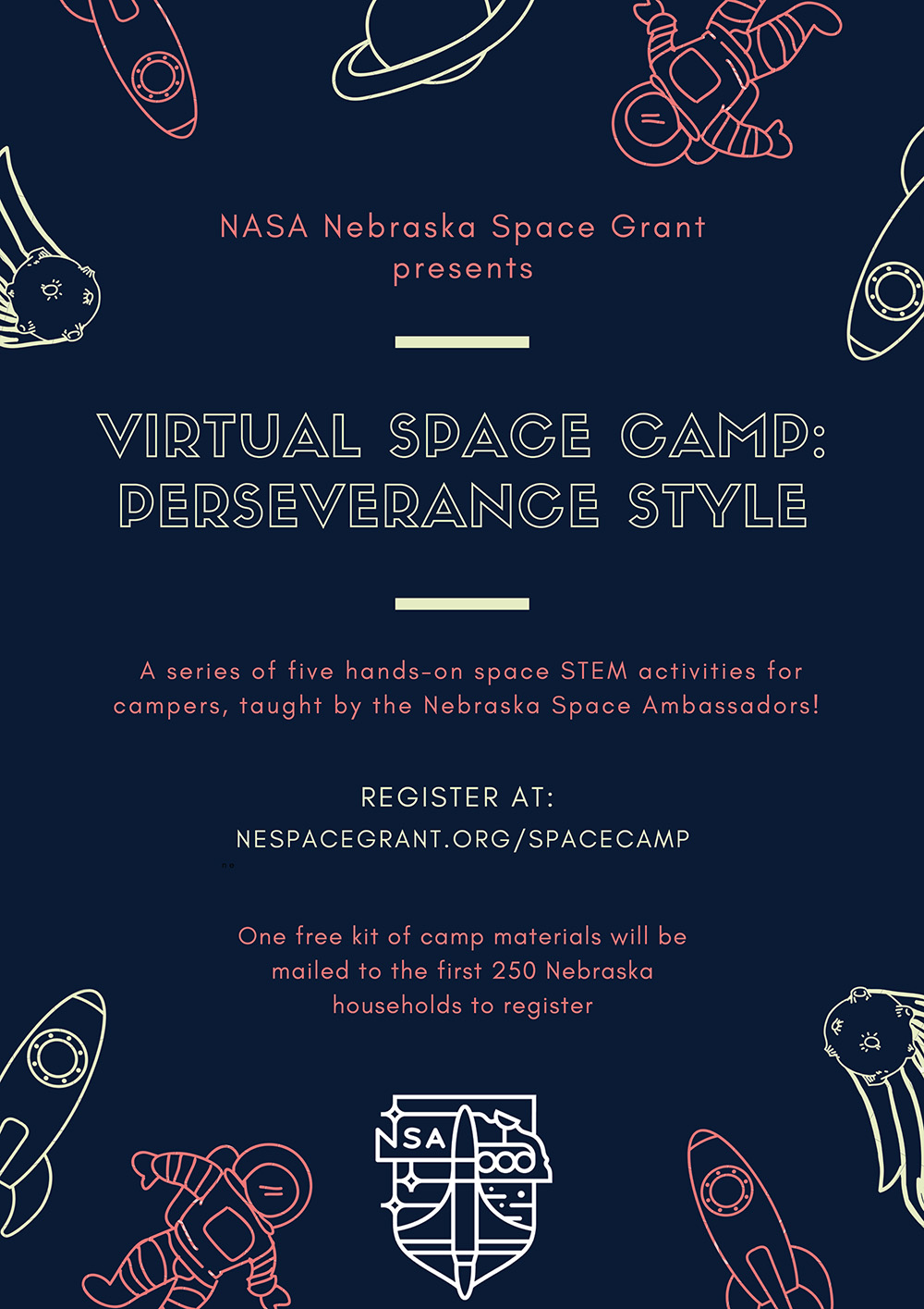 Virtual Space Camp Offers Hands On Stem Activities Announce University Of Nebraska Lincoln