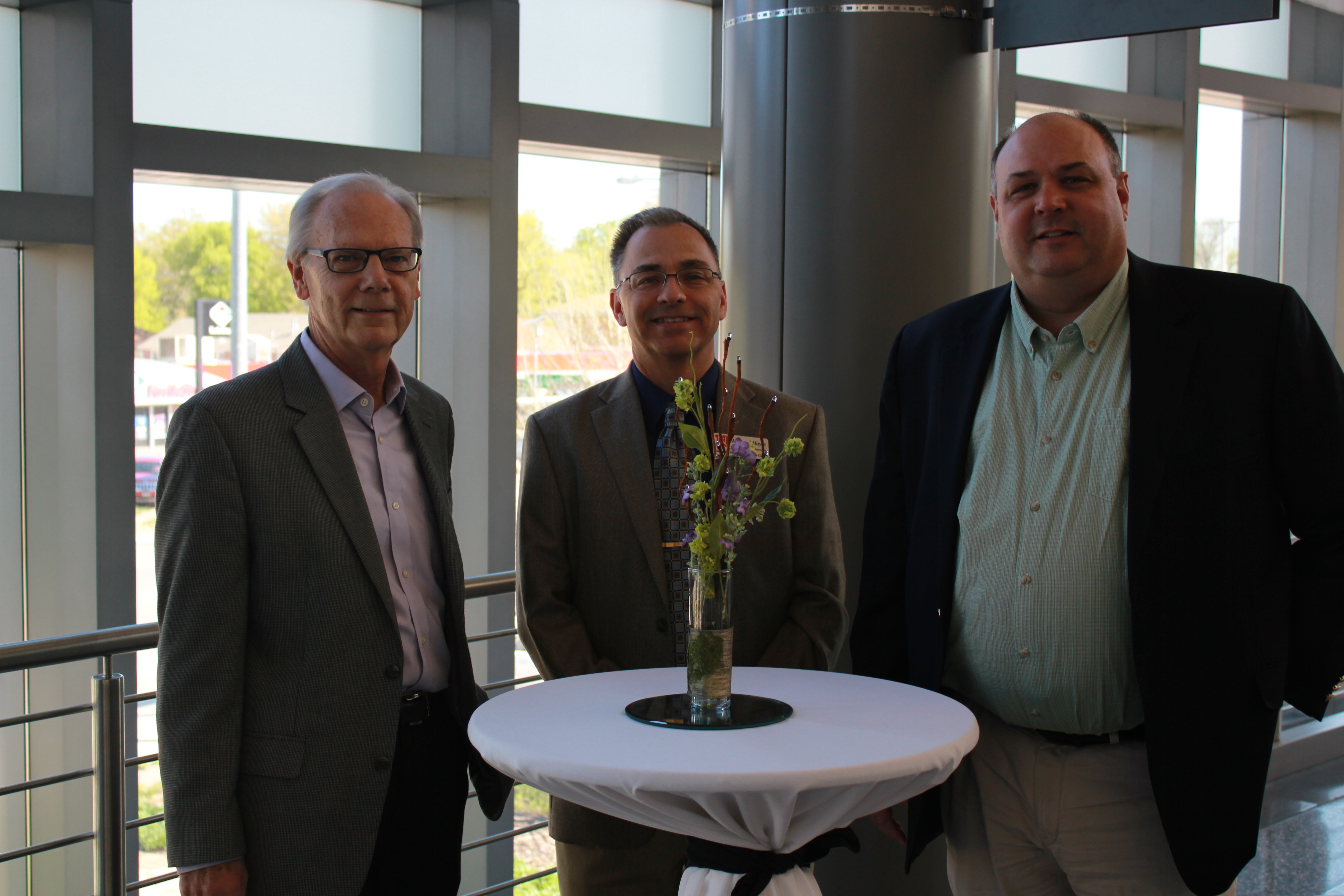 From left to right: NDMC founder Donald Wilhite, former NDMC director Michael Hayes and current NDMC director Mark Svoboda at the Center's 20-year anniversary in 2015.