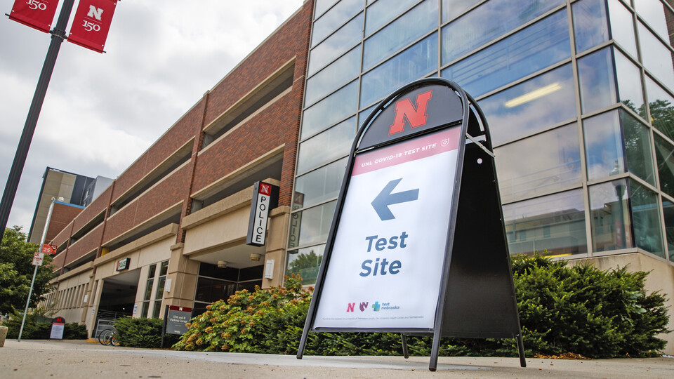 Testing is available at the University Health Center and at a testing site behind the University of Nebraska–Lincoln Police Station, in the 17th and R parking garage.
