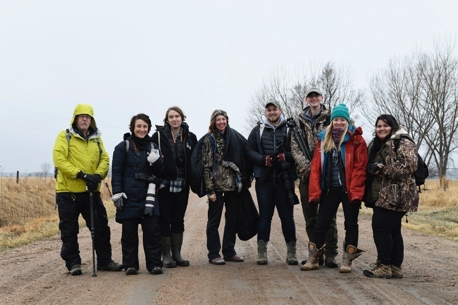 Members of the Platte Basin Timelapse project team step in front of the lens. PBT recently joined the School of Natural Resources, where their storytelling capabilities will help the school's faculty, staff and students spotlight elements of the natural w