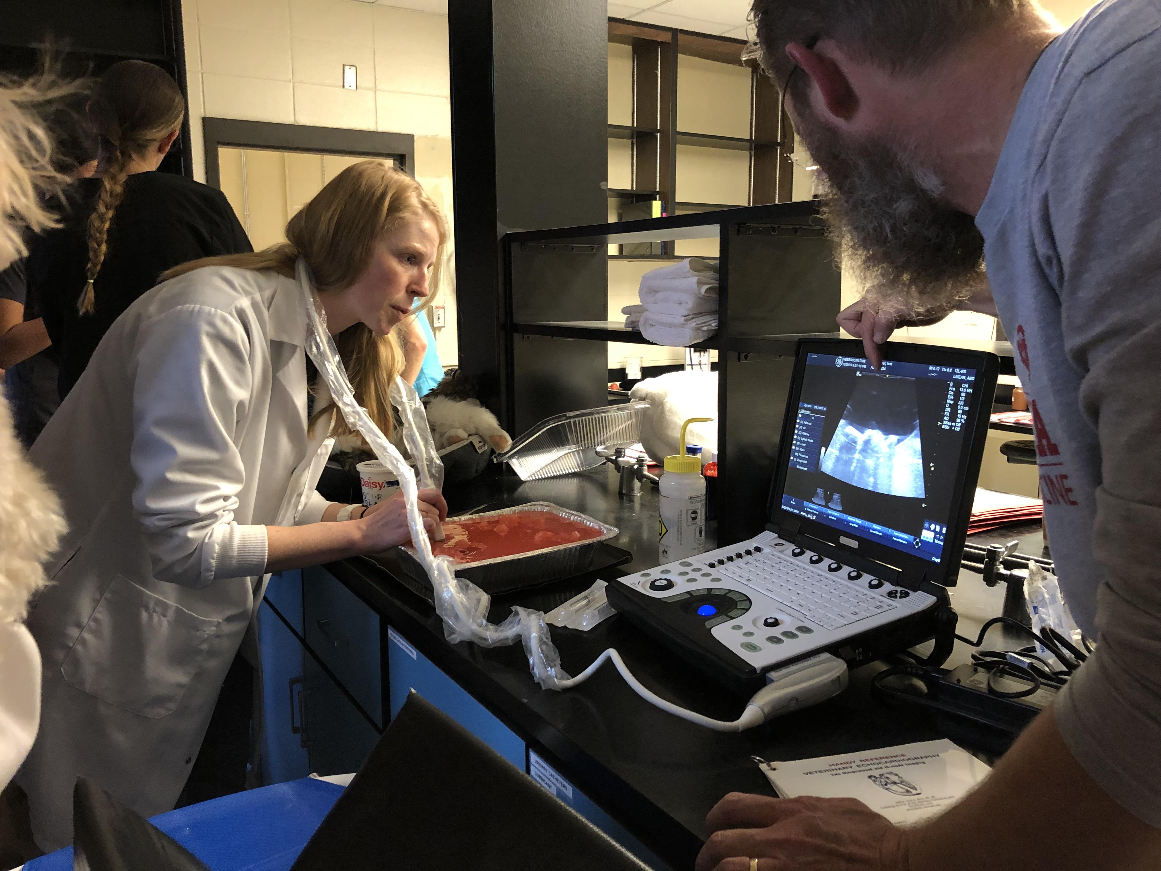 Fisheries and wildlife major Carolyn Hanish is now midway through Nebraska's Professional Program in Veterinary Medicine. Courtesy Reilly Grealish