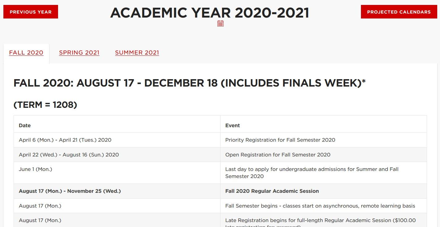 Unl Spring 2021 Calendar Important Academic Dates   Announce   University of Nebraska Lincoln