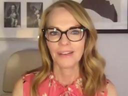 Actress Marg Helgenberger visits with students and faculty in the Johnny Carson Center for Emerging Media Arts via Zoom on Oct. 16 as part of IGNITE.