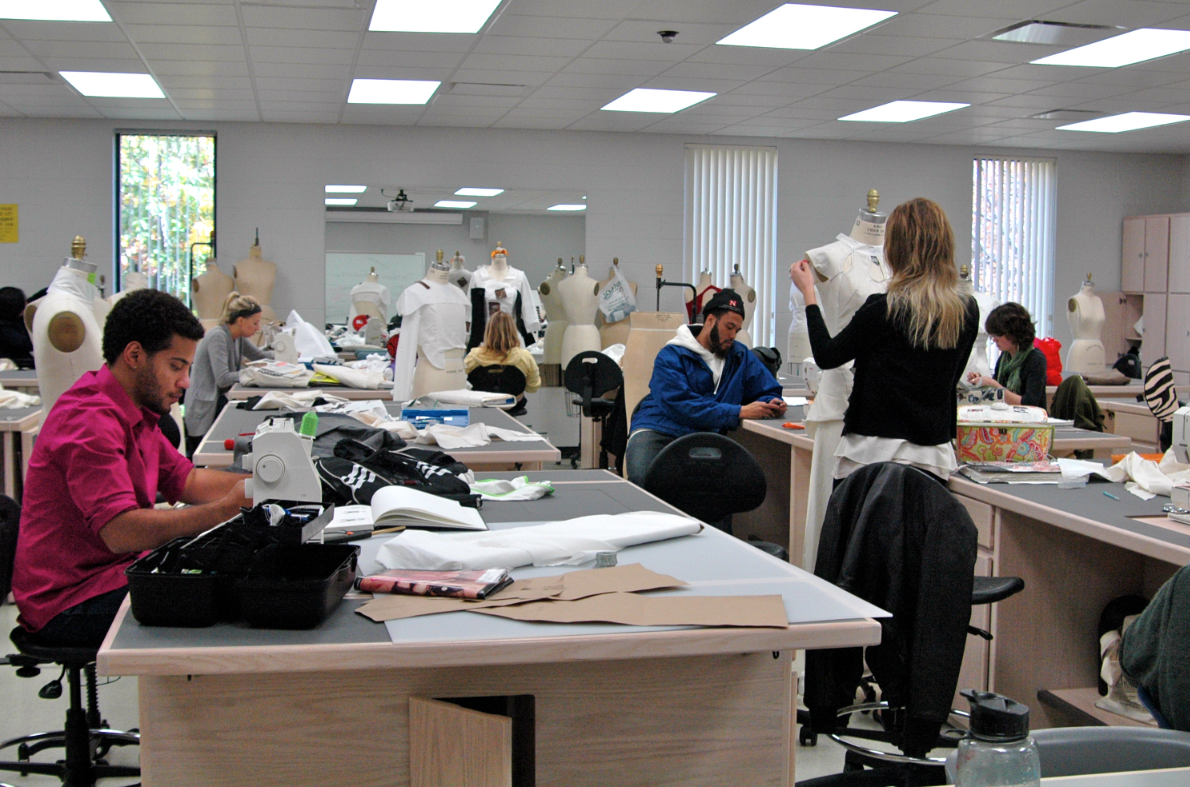 Students in Apparel Design for Industry (TXCD 416/816), taught by textiles, clothing and design professor Barbara Trout, begin the process of developing their apparel collections for the biennial department fashion show slated for April 2012.