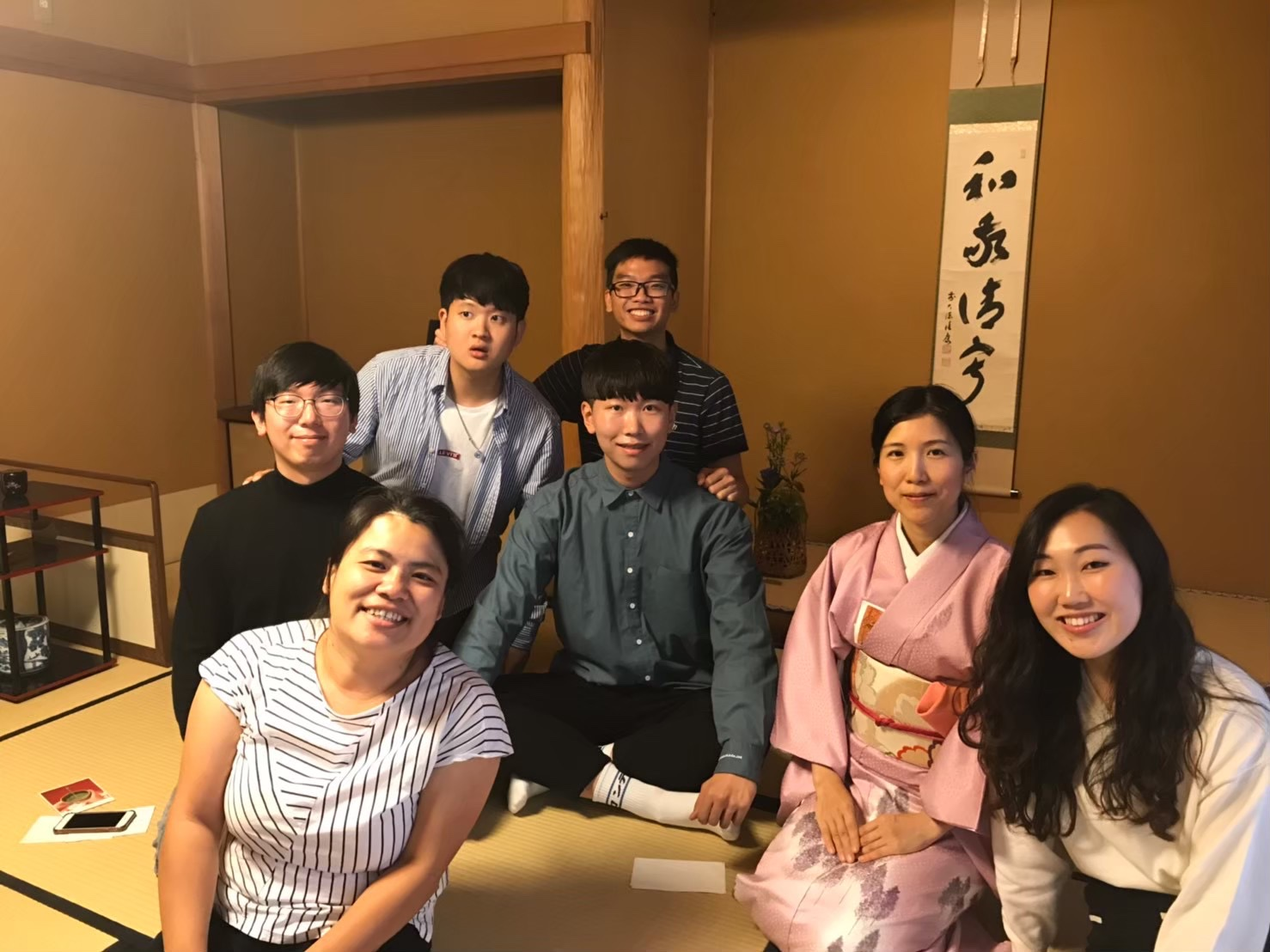 Senior international business and marketing major Jessica Ha (bottom right) studied Japanese culture and language at Senshu University in fall 2019 with the help of the Edythe Wiebers International Study Program Scholarship.