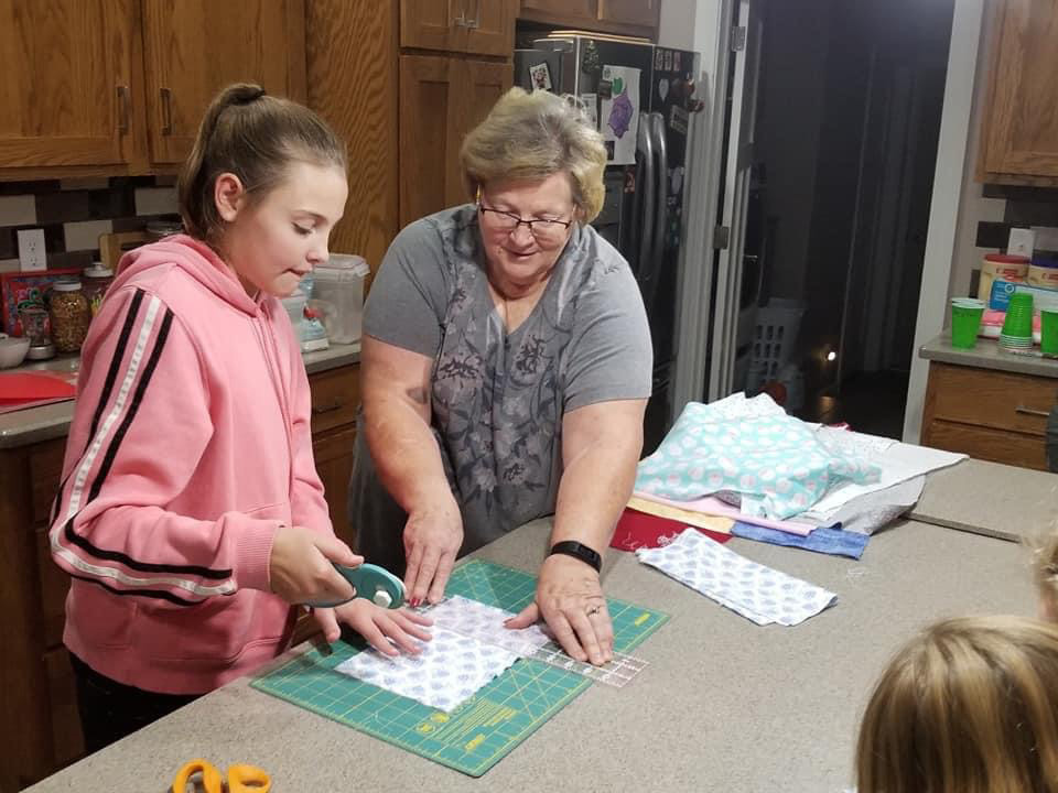 Marsha Prior and a member of the Fusion 4-H'ers club