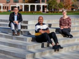 Mike Hayes, Leen-Kiat Soh, Ashok Samal and Regina Werum are members of a multidisciplinary research team that integrates computer science and the social sciences to develop a model that anticipates social unrest events. The photo is a composite of four in