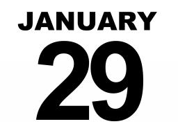 The Spring 2021 graduation application deadline is January 29.