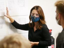Interior designer Catrina Cook teaches a senior design studio course in the College of Architecture.