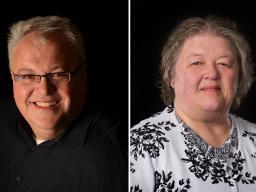 Left: Timothy Ganser. Right: Julie Hagemeier