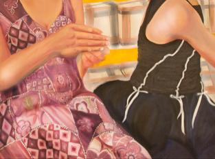 "Ashley Schultz's portrait for the ""Sights Unseen"" exhibition."