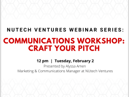 NUtech Ventures is hosting a free webinar for graduate students.