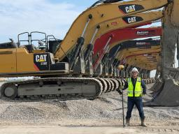 Malik Askar, a Husker graduate who interned with Kiewit Corp. in 2019, now works as a field engineer for Kiewit on a multi-billion-dollar liquified natural gas project.