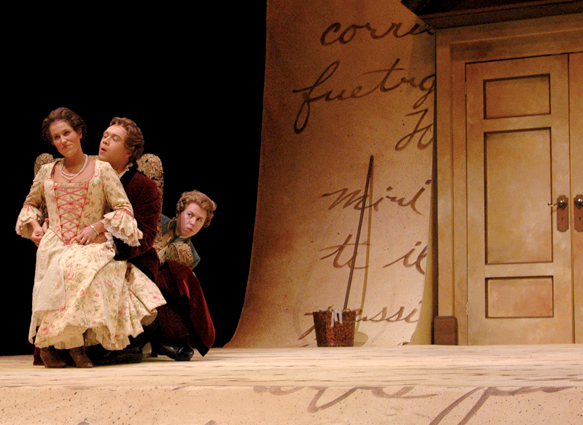 "UNL students practice a scene from Mozart's ""The Marriage of Figaro."""